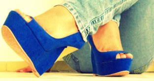 Aviesta Blue Wedges