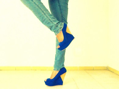 Blue Wedges from Aviesta