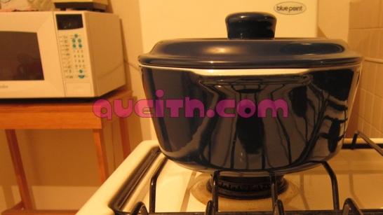 Blue ceramic pot