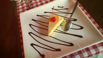 Pastel de queso de Vitto's.