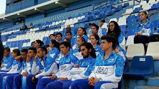 ¡La selección mayor de atletismo de El Salvador!